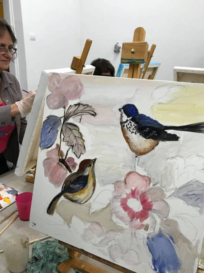 SDK – warsztaty malarskie – ptaki [FOTO]